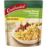 CONTINENTAL Pasta & Sauce (Value/Family Pack) | Creamy Bacon Carbonara, 145g