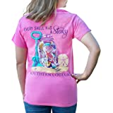 Southern Couture Every Shell Has A Story Azalea Pink Cotton Fabric Classic T-Shirt