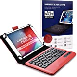 Cooper Infinite Executive Keyboard Case for 7-8 inch Tablets | Universal Fit | 2-in-1 Bluetooth Wireless Keyboard & Leather F