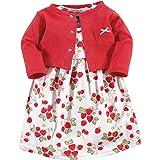 HUDSON BABY Baby-Girls Dress and Cardigan Set Long Sleeve Casual Dress