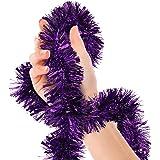 Mardi Gras Purple Tinsel Garland Masquerade Metallic Streamers Celebrate a Holiday New Years Eve Happy Birthday Halloween Par