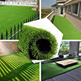 PET GROW Realistic Artificial Grass Rug - Indoor Outdoor Garden Lawn Patio Balcony Synthetic Turf Mat - Thick Fake Grass Rug