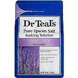 Dr. Teal's Pure Epsom Salt Soaking Solution, Soothe & Sleep With Lavender, 3 Pound Bag