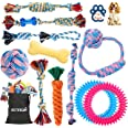 Dog Rope Toy for Puppy Teething, 12 Pack Indestructible Dog Toys for Puppy Chewers, Interactive Tug of War Toys for Puppies S