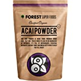 Forest Super Foods Certified Organic Acai Powder Freeze Dried 200g (60 day supply) Nothing added. Premium quality.