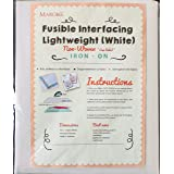 MAROBEE White Fusible Interfacing Lightweight Non-Woven for Sewing and Webbing Projects, Ultra Adhesive Bond Iron-On One Side