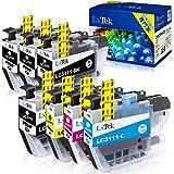 【LxTek】Brother用 ブラザー LC3111 インクカートリッジ 7本セット (4色セット+ 黑3本) LC3111-4PK 『互換インク/2年保証/大容量/残量表示/個包装』