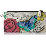 Anna by Anuschka Women's Genuine Leather Organizer Wallet   Five Credit Card Holders