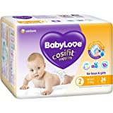 BabyLove Cosifit Nappies, Size 2 (3-8kg), 96 Nappies (4x 24 pack)