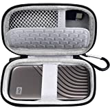 Case Compatible for WD 1TB 2TB 500GB My Passport SSD External Portable Drive, Carrying Storage Holder Bag Also fits for USB C