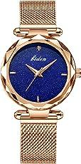 腕時計 レディース腕時計 カジュアルエレガントな星空スカイスリム豪華防水アナログクォーツドレス腕時計