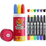 Jar Melo Silky Crayons-6 Colors Washable Rotating Non-Toxic 3 in 1 Effect(Crayon-Pastel-Watercolor); Coloring Kids; Art Tools