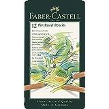 Faber-Castell Pitt Pastel Colour Pencils Tin of 12, (27-112112)