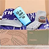 KEDRIAN 5-Piece Care Package Box, Warm & Relaxing Sympathy Blanket, Socks, Tumbler, Mask, Candle, Perfect Get Well Gifts for