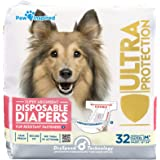 Paw Inspired 32ct Disposable Dog Diapers | Female Dog Diapers Ultra Protection | Diapers for Dogs in Heat, Excitable Urinatio
