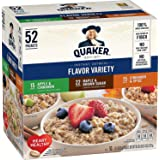 Quaker Instant Oatmeal Flavor Variety 52 Individual Sachet Box 2.23kg