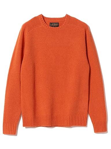 5 Gauge Wool Crewneck Sweater 11-15-0879-103: Orange