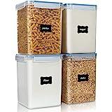 Vtopmart Flour Storage Containers 4 Pieces Set-5.2L Transparent