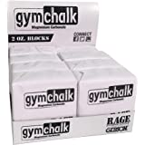 Gibson Athletic Premium Block Gym Chalk, 1Lb, Consists of (8) 2 oz Blocks, Magnesium Carbonate, Gymnastics, Weightlifting, Ro