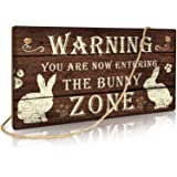 Putuo Decor Funny Rabbit Sign Bunny Rabbit Home Decor Gift Bunny Mom Bunny Lover 12 x 6 Inch (The Bunny Zone)