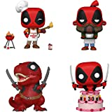 Funko Marvel: POP! Deadpool 30th Anniversary Collectors Set - Backyard Griller Deadpool, Coffee Barista, Deadpool in Cake, Di