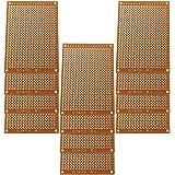 GTIWUNG 12枚 ユニバーサル基板 両面 PCB回路基板 5cm * 7cm PCBブレッドボード 実験プレート DIY はんだ付け 電子工作