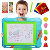 Gamenote Extra Large Magnetic Drawing Board 18×13 with Stamps & Stencils &  Pen - Education Doodle Toys for Kids, Colorful Er