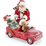 Department 56 Possible Dreams Santa Christmas Traditions Red Pedal Truck Lit Figurine, 10.5 Inch, Multicolor