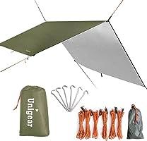 Unigear 防水タープ 軽量 日除け サンシェルター ポータブル 天幕 シェード キャンプ 収納ケース付 2-6人用 3サイズ