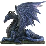 Midnight Dragon Figurine Display