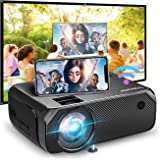BOMAKER LCD WiFi Projector, Upgraded 4500 Lux, Portable HDMI Projector, Full HD 1080P Supported, Wireless Screen Mirroring Vi