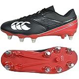 canterbury Unisex Kid's Phoenix Raze Soft Ground Rugby Boots, Black/True RED