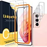 [ 2+3 Pack ] UniqueMe Tempered Glass + Camera Lens Protector Compatible with Samsung Galaxy S21 5G - 6.2 inch Screen Protecto