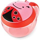 Skip Hop Baby Zoo Little Kid and Toddler Snack Cup with Snap Top Lid and No Spill Opening, Multi, Livie Ladybug