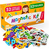 X-bet MAGNET Foam Magnets and Magnetic Letters for Toddlers and Kids - ABC Alphabet Magnets for Refrigerator and Dry Erase Bo