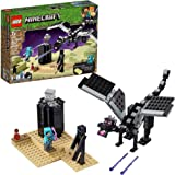 LEGO Minecraft The End Battle 21151 Ender Dragon Building Kit includes Dragon Slayer and Enderman Toy Figures for Dragon Figh