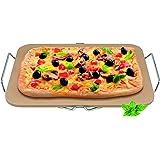 Avanti 12258 Rectangular Pizza Stone with Rack,Light Brown