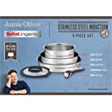 Tefal L9569032, Ingenio, Jamie Oliver, Stainless Steel, Cookware Set, Pans