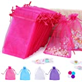 """Angooni 4x6"""" Organza Bags Gift Drawstring Pouch for Jewelry Party Wedding Favor Party Festival 