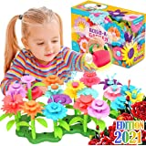 FunzBo Flower Garden Building Toys for Girls - STEM Toy Gardening Pretend Gift for Kids - Stacking Game for Toddlers playset