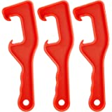 3 Pieces 5 Gallon Plastic Bucket Lid Opener Paint Can Lid Opener for Home Office Opening Tools (Red)