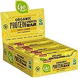 Go Raw Protein Bars, Zesty Lemon | Gluten Free Energy Bar | Organic | Vegan | Natural (12 Bars)