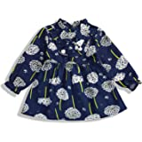 YOUNGER TREE Thanksgiving Toddler Baby Girl Dress Set Ruffled Collar Long Sleeve Princess Flower Dresses