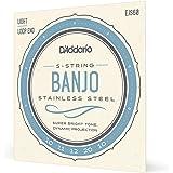 D'Addario EJS60 Stainless Steel 5-String Banjo Strings, Light, 10-20