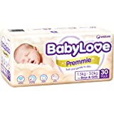 Babylove Premium Premmie Nappies, Size 0 (1.5-3.0kg), 120 Nappies (4x 30 pack)