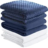 Weighted Blanket w/ 2 Duvet Covers for Hot & Cold Sleepers Advanced Nano-Ceramic Beads Deliver Durability & Silky Comfort (60