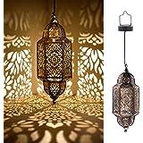 Moroccan Hanging Solar Light (Bronze)