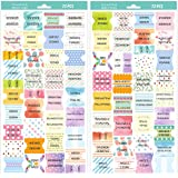 Bible Tabs Peel and Stick Colorful Bible Indexing Tabs for Bible Reading 72 Piece