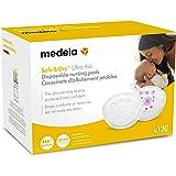 Medela Safe & Dry Ultra Thin Disposable Nursing Pads, 120 Count Breast Pads for Breastfeeding, Leakproof Design, Slender and