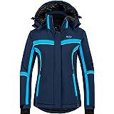 Wantdo Women's Zipper Rain Jacket Waterproof Windbreaker Lightweight Rain Coat for Running